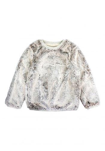 girls-fake fur sweatshirt-2